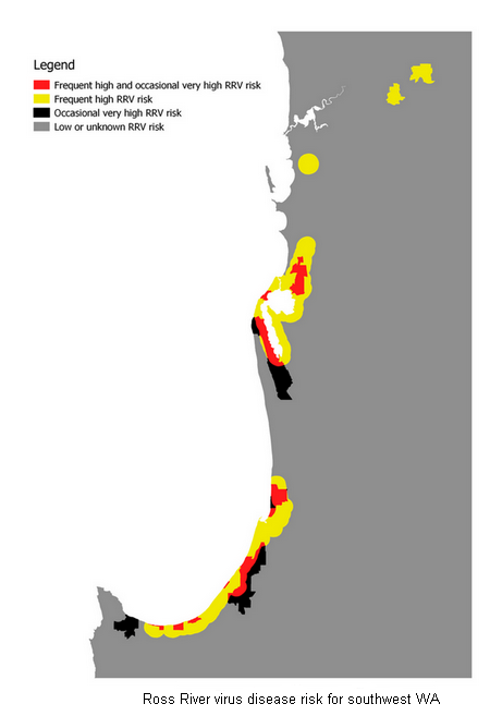 Ross River Virus Risk South Western Australia. MozTrack real time mosquito numbers