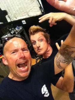 Green Day Tre Cool hang.