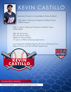 Pro Softball Player Bio Sheet