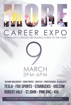 Chapman More Career Expo Marketing