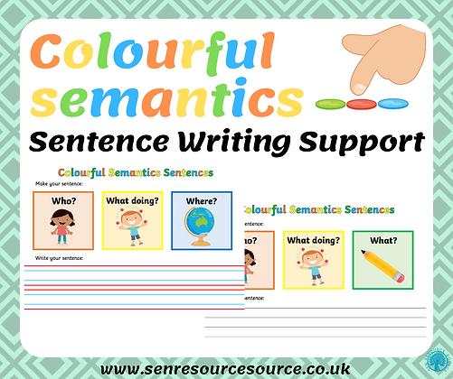 Colourful Semantics Sentence Support