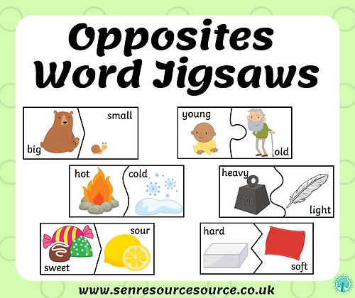 Opposite Words Jigsaws