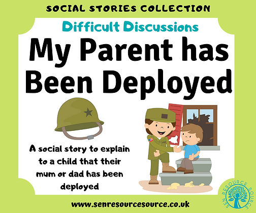 My Parent is Being Deployed Social Story