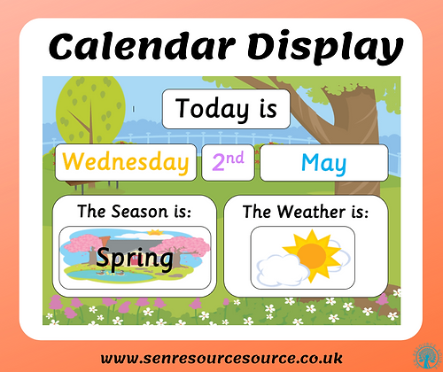 Daily Calendar Display