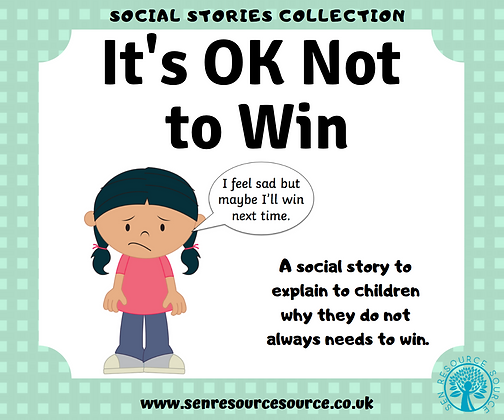 It is OK not to Win Social Story
