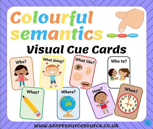 Colourful Semantics Visual Cue Cards