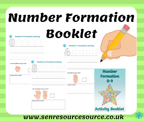 Number Formation Activity Booklet