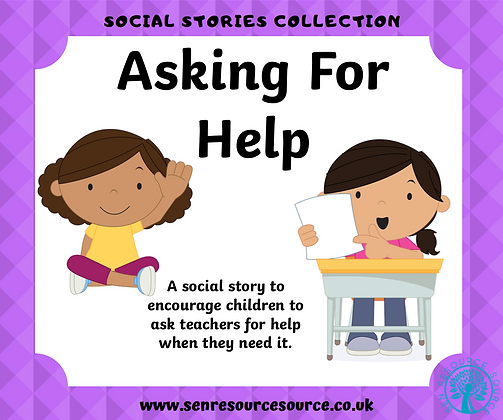 Its OK to ask for help Social Story
