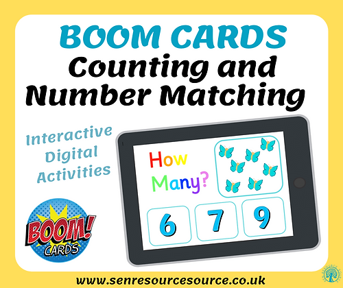 Counting and Number Matching Boom Cards