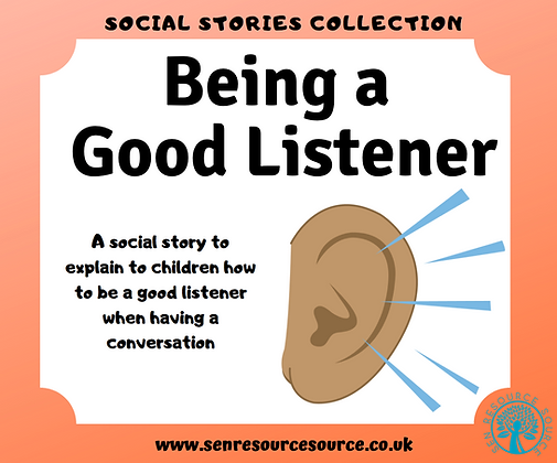 Being a Good Listener Social Story