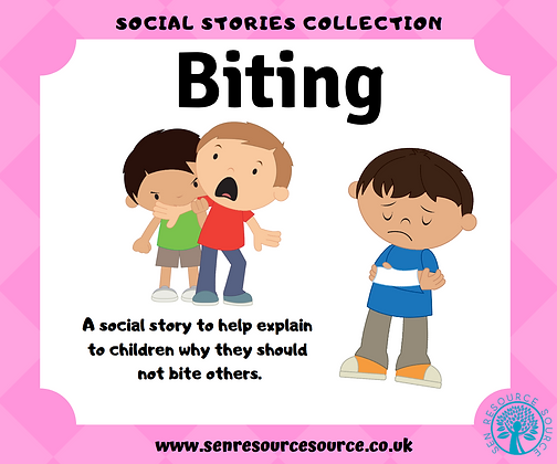 Biting others social story