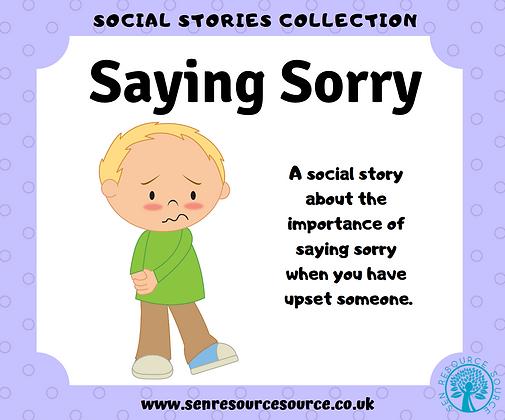 Saying Sorry social story