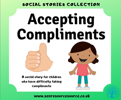 Accepting Compliments Social Story