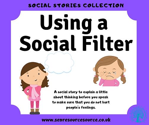 Using a Social Filter Social Story