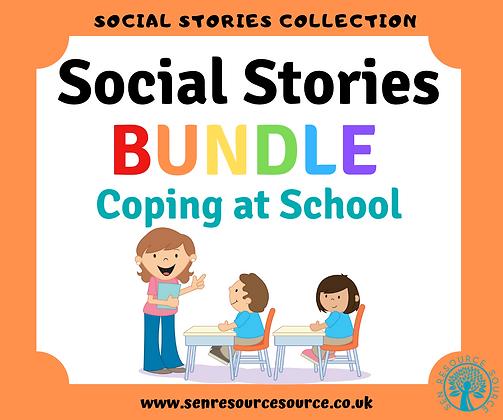 Coping at School Social Stories Bundle