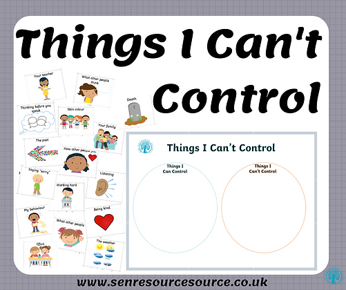 Things I can and cannot control Worksheet