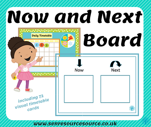 Now and Next board with Visual Timetable and Reward Cards