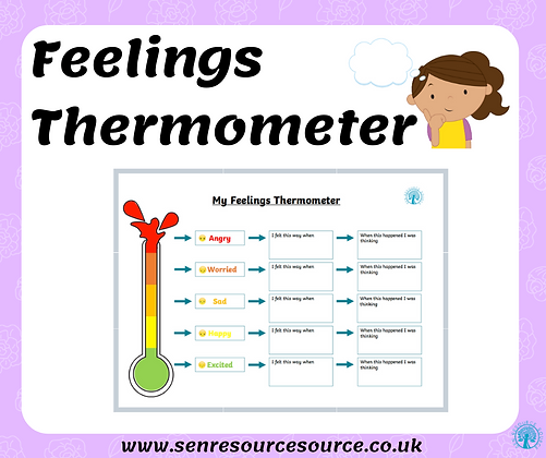 My Feelings Thermometer Worksheet