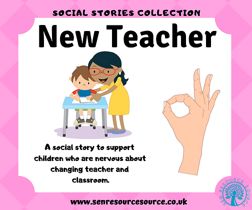 New Teacher in a New School Year Social Story