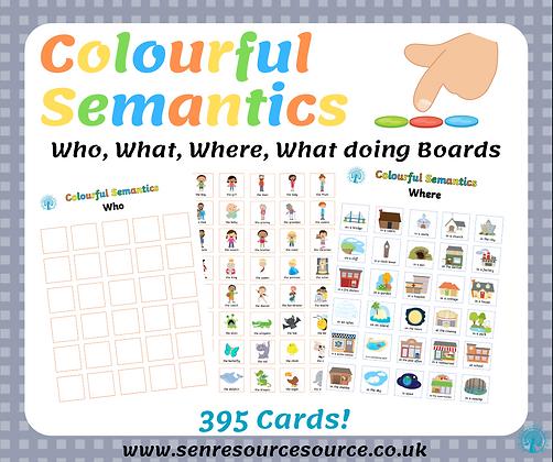 Colourful Semantics Boards