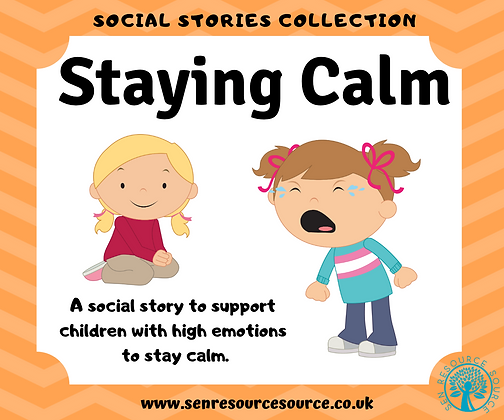 Staying Calm Social Story