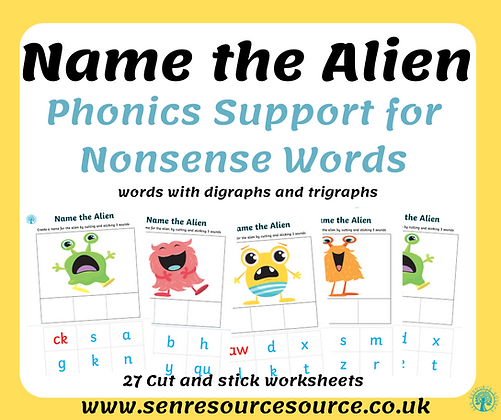 Name the alien with digraphs and trigraphs