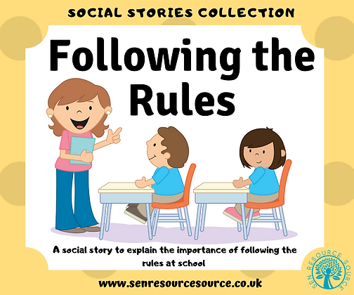Following the Rules Social Story
