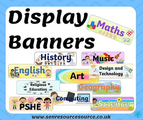 Subject Display Banners