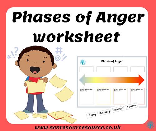 Phases of Anger Worksheet