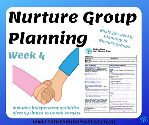 Nurture Group Weekly Planning Week 4