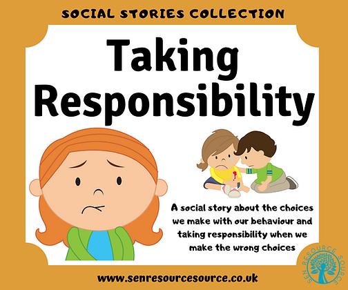 Taking Responsibility Social Story