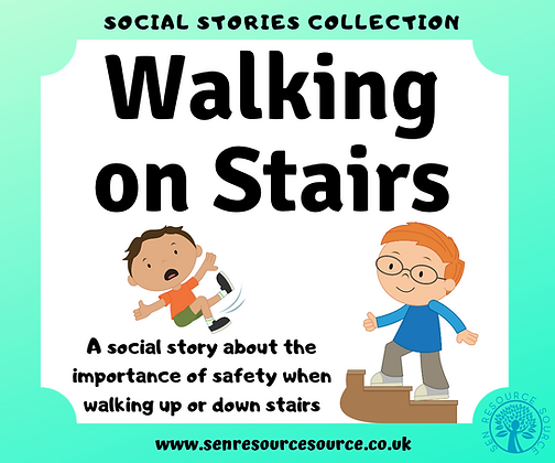 Walking on the Stairs Social Story