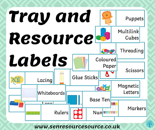Tray and Resource Labels