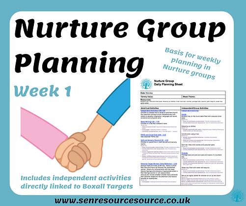 Nurture Group Weekly Planning Week 1