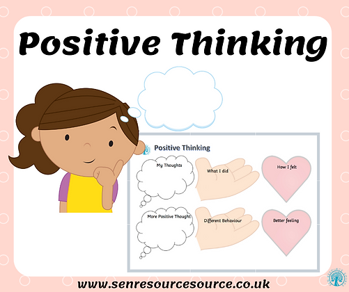Positive Thinking Worksheet