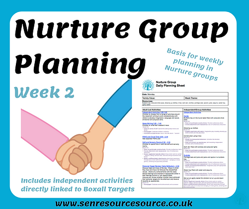 Nurture Group Weekly Planning Week 2