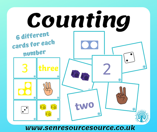 Counting, Number and Quantity Matching Cards