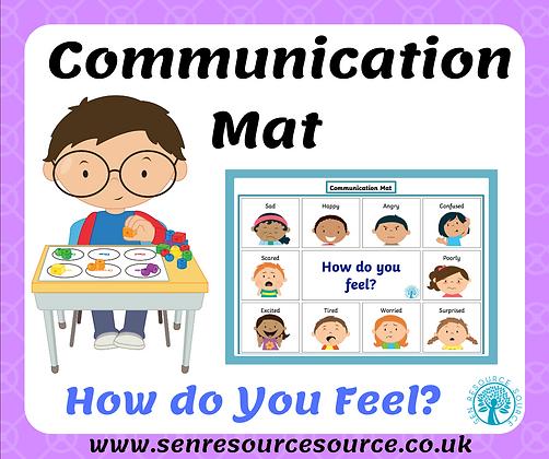 Feelings communication mat