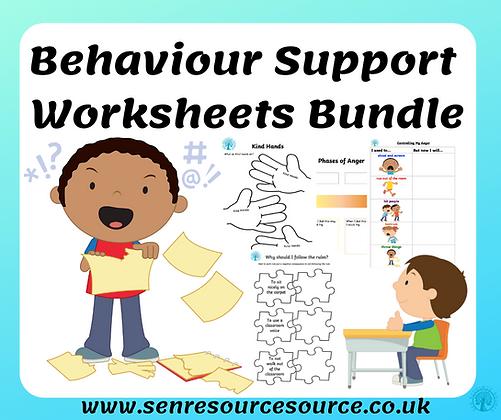 Behaviour Worksheet Bundle