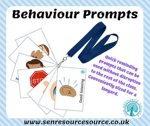 Lanyard sized behaviour prompts