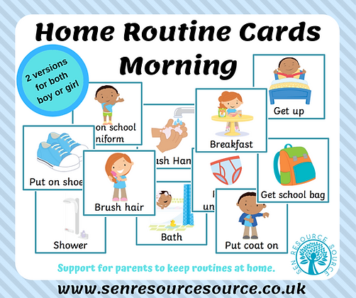Morning Home Routine Cards
