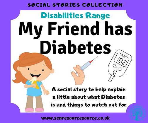 My Friend has Diabetes Social Story