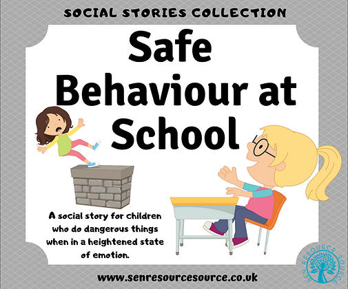 Safe Behaviour at School Social Story