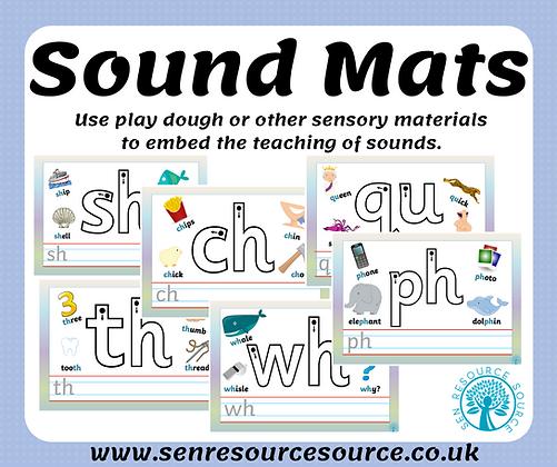 Sound play dough mats