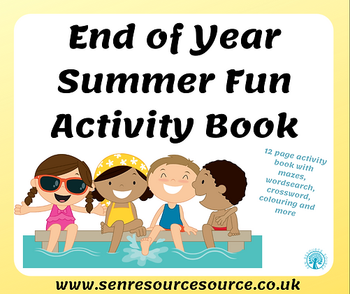 End of Year Summer Activity Book