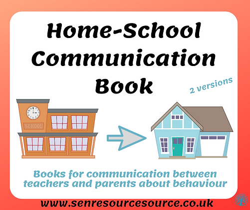 Home-School Communication Book - 2 versions