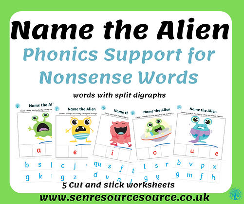 Name the alien with split digraphs