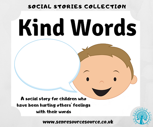 Kind Words Social Story