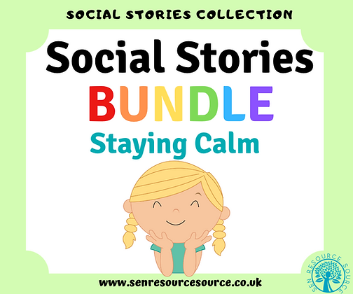 Staying Calm Social Stories Bundle