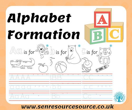 Alphabet Formation Handwriting Sheets